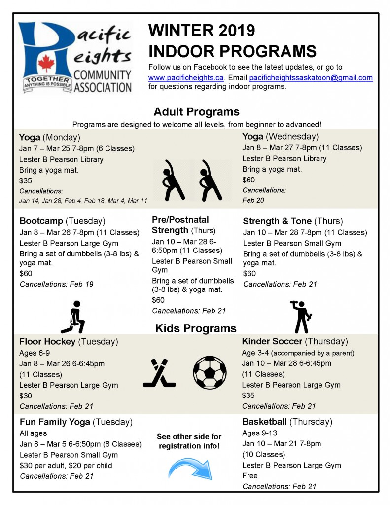 Indoor Programs Newsletter Winter 2019