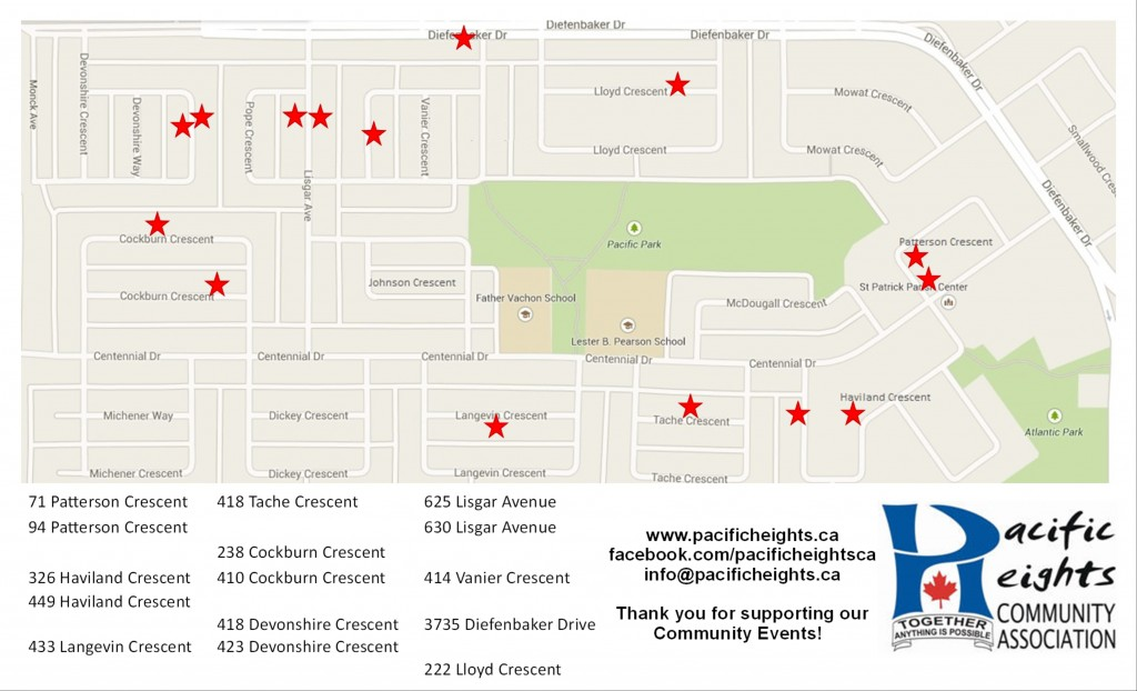 PHCA Garage Sale Map 2016